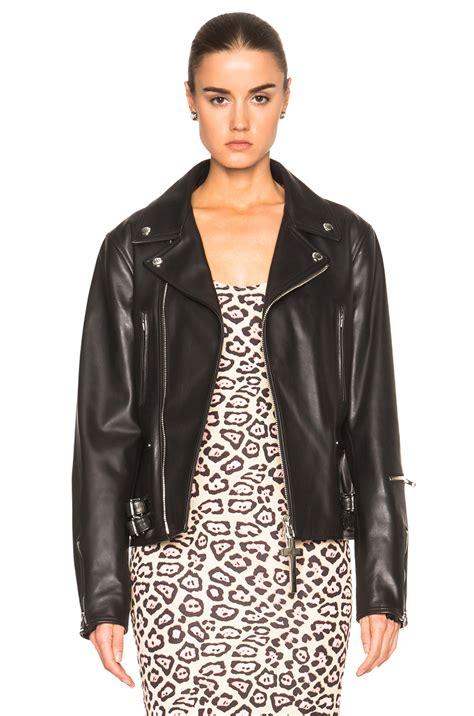 givenchy leather jacket givenchy leather jacket in black fwrd
