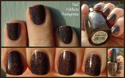 black holographic nail polish opi my private jet nail addicts anonymous swatch opi s my private jet