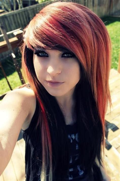 girl hairstyles guys love 65 best love emo people their appearances images on