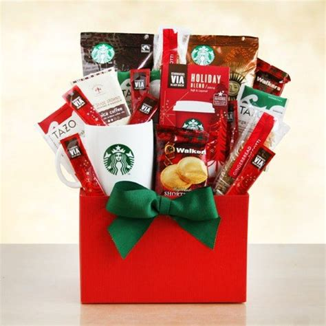 merry christmas starbucks coffee and tea gift basket