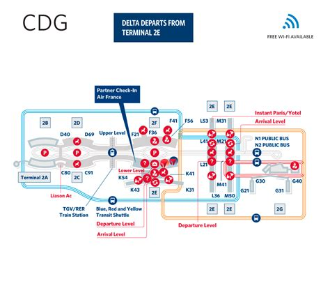 cdg map charles de gaulle airport terminal map cdg delta
