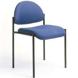 Boss office contemporary armless fabric stacking chair in blue b9505