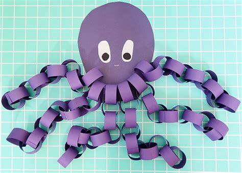 paper octopus craft easy paper chain octopus craft woo jr activities
