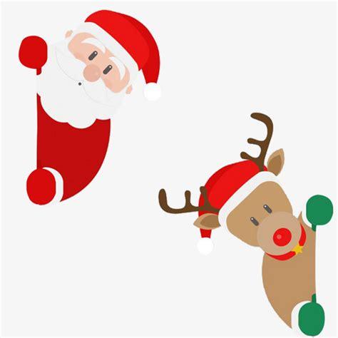 imagenes de navidad animados dibujos animados de navidad santa y ciervos cartoon