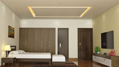 luxury gypsum board ceiling with purple bed and amazing false ceiling designs