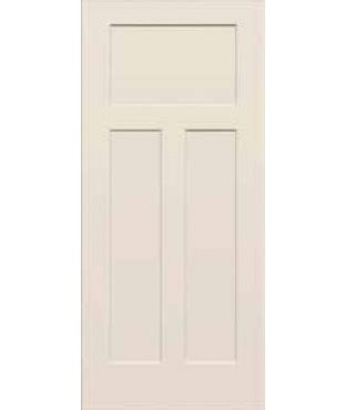 3 Panel Craftsman Interior Door Craftsman Iii Primed 3 Panel Smooth Door