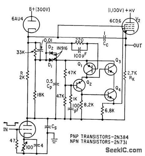 bootstrap sweep circuit using transistor index 62 electrical equipment circuit circuit diagram seekic