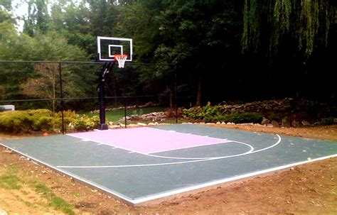 backyard sports court prices backyard basketball court layout tips and dimensions