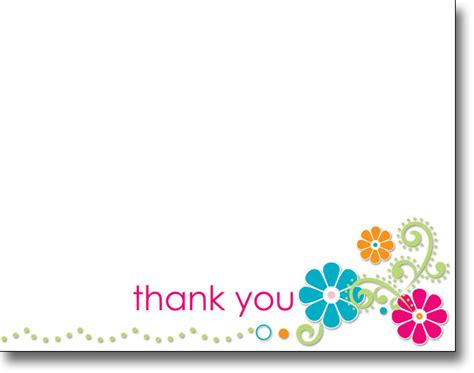 Thank You Letter Gift Card - thank you note cards image search results