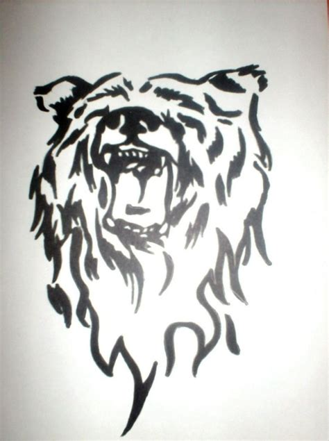 tribal bear tattoo meaning 9 best ophelia s flowers primary sketches images on