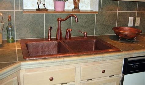 Mountain Rustic Copper Sink Rustic Kitchen Sinks