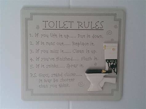 toilet bathroom signs for home bathroom cleanliness rules tags funny pictures