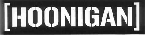 hoonigan racing logo hoonigan sticker
