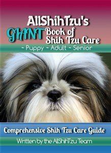 allshihtzu s book of shih tzu care books taking care of a shih tzu in the winter