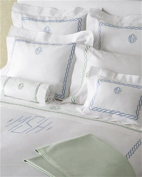 monogrammed bed linens monogram bed linens chain embroidery linens