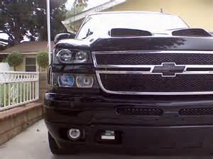 03 06 chevy silverado halo led projector headlights