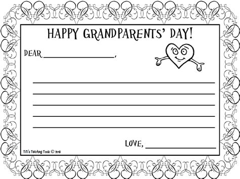 Parents Day Letter Happy Grandparents Day Letter Free Titi S Teaching Tools Tpt S