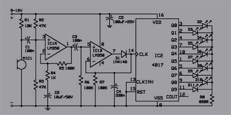 layout rangkaian running led lu led disko mengikuti musik koleksi skema rangkaian