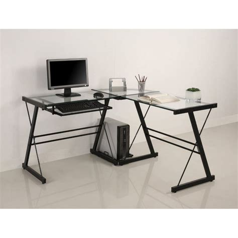 Walker Edison Soreno 3 Piece Corner Desk With Walker Edison 3 Contemporary Desk