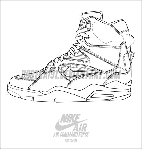 nike shoe template nike air command template by bboykai91 on deviantart