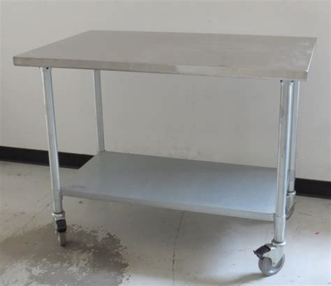 stainless steel work table with wheels lab equipment jimex corp model ewt 3048 nsf stainless