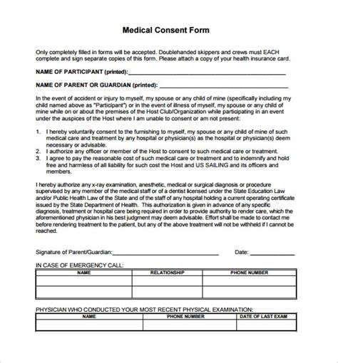 medication consent form template sle consent form 13 free documents in pdf