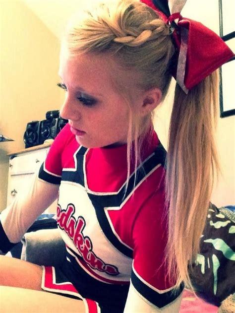 College Cheerleading Hairstyles | cheerleading hair stlye disney princess pinterest