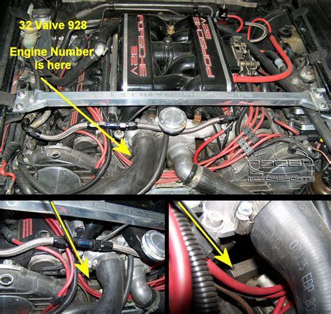 porsche 928 engine 928 motorsports llc 174 visual identification of your