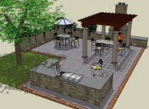 Outdoor kitchen designs with pergola shade structures outdoor
