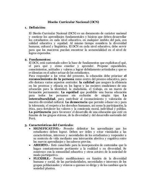 Diseño Curricular Nacional Definicion Dise 241 O Curricular Nacional1