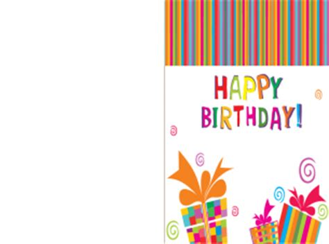 Print Out Birthday Card Printable Happy Birthday Present Card