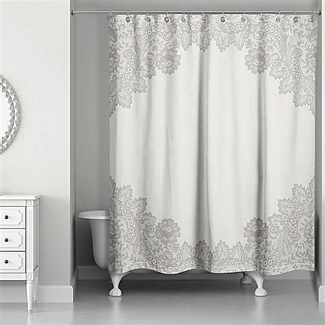 shower curtain lace designs direct brown lace shower curtain bed bath beyond