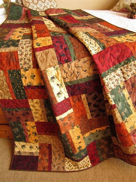 Patchwork Cabin - handmade patchwork quilt mountain cabin 224 00