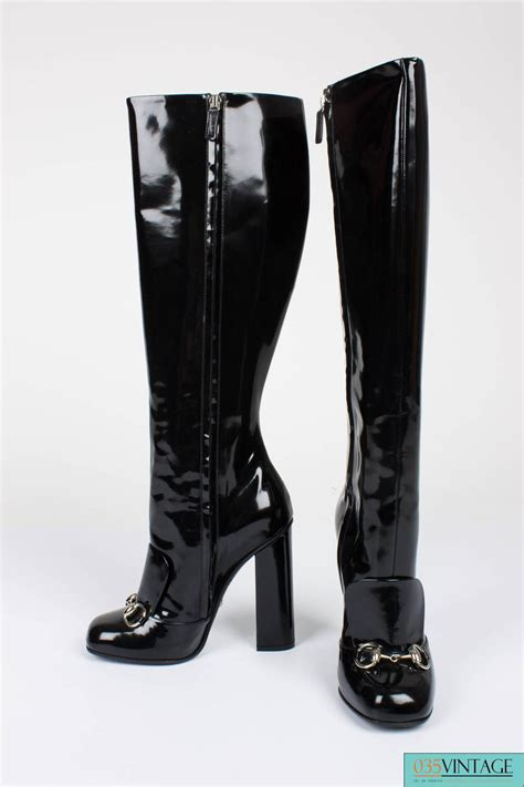 gucci boots sale gucci lillian horsebit boots black patent leather for