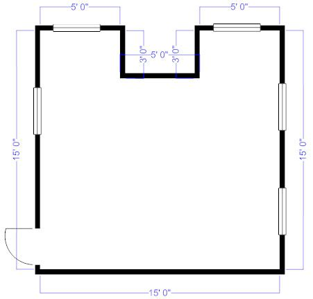 Overhead Kitchen Cabinets by How To Measure And Draw A Floor Plan To Scale