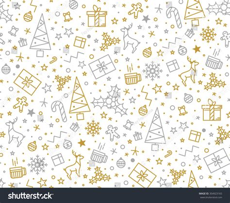 christmas pattern white background seamless pattern christmas on white background stock