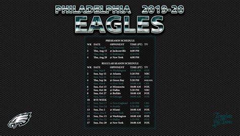 philadelphia eagles wallpaper schedule