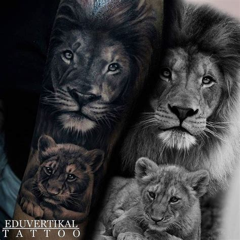 lion family tattoo family