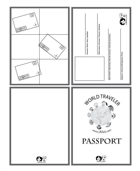 passport photo word template passport template 19 free word pdf psd illustrator