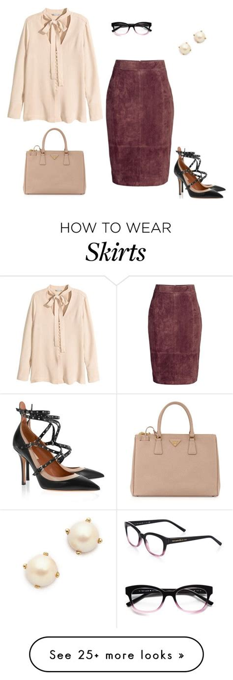 by modestcutie liked on polyvore featuring valentino quot suede pencil skirt quot by jpschwartz on polyvore featuring h