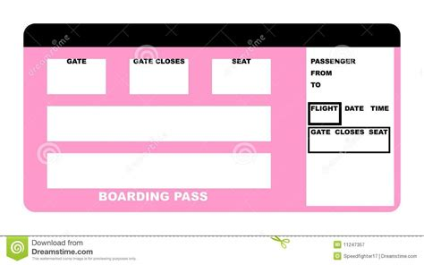 air ticket template boarding pass royalty free stock photography image 11247357