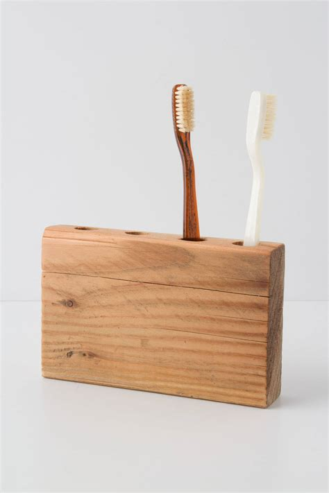 Tooth Brush Holder timber trail toothbrush holder anthropologie
