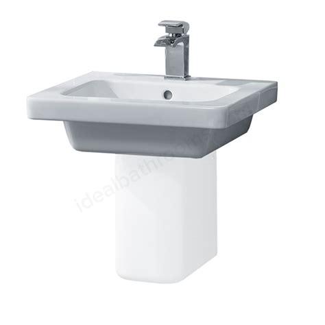 pedestal only for basin essential ivy corner pedestal basin only 450mm wide 1