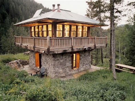 small cabin homes inside fire lookout towers fire tower cabin plans cool