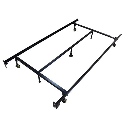 Are Metal Bed Frames Adjustable Homegear Heavy Duty 7 Leg Metal Platform Bed Frame