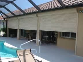 Patio Roll Up Blinds Hurricane Protection From Naples Shutter