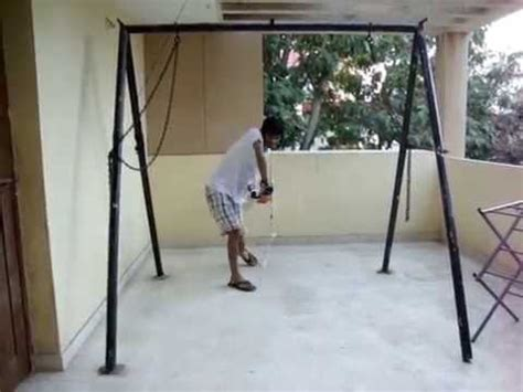 rope swing exercise on a rope hanging videolike