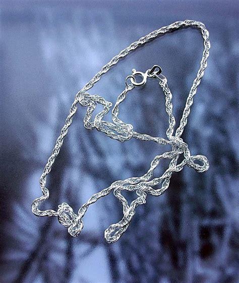 cadenas de plata mexico cadena de plata tejido torsal en plata fina ley 925 60cm