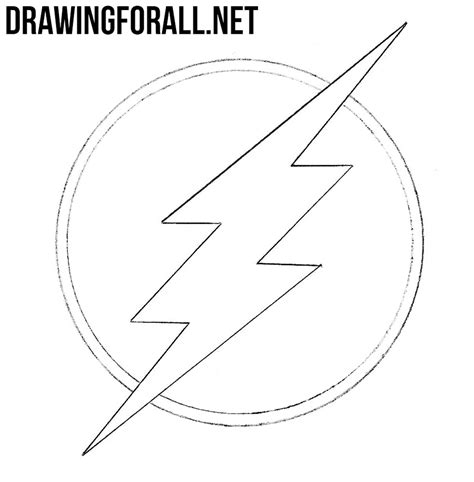 Flash Symbol Outline by How To Draw The Flash Logo Drawingforall Net