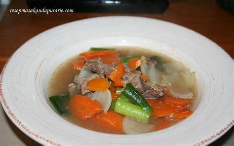 Makanan Rumahan Ala Dapur Isna resep cara membuat sup daging sapi enak mudah resep masakan dapur arie